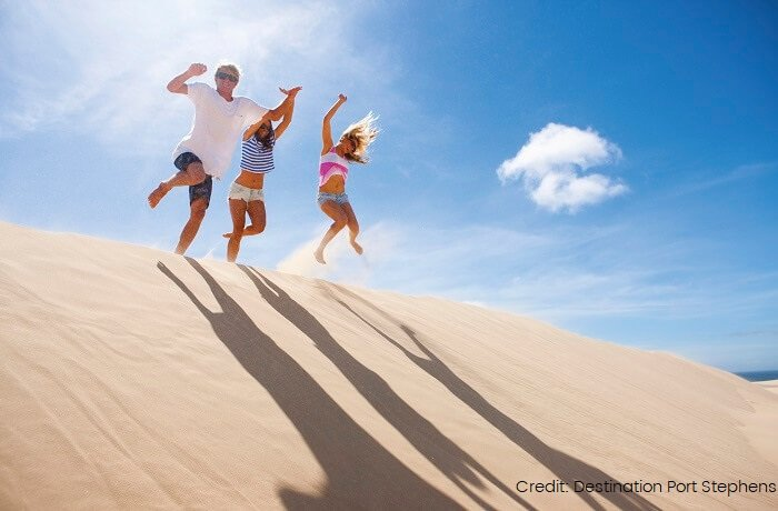 sand dunes in port stephens