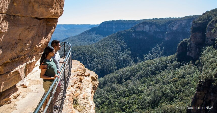 Blue MOuntains Sunset Tour Wentworth Falls Track