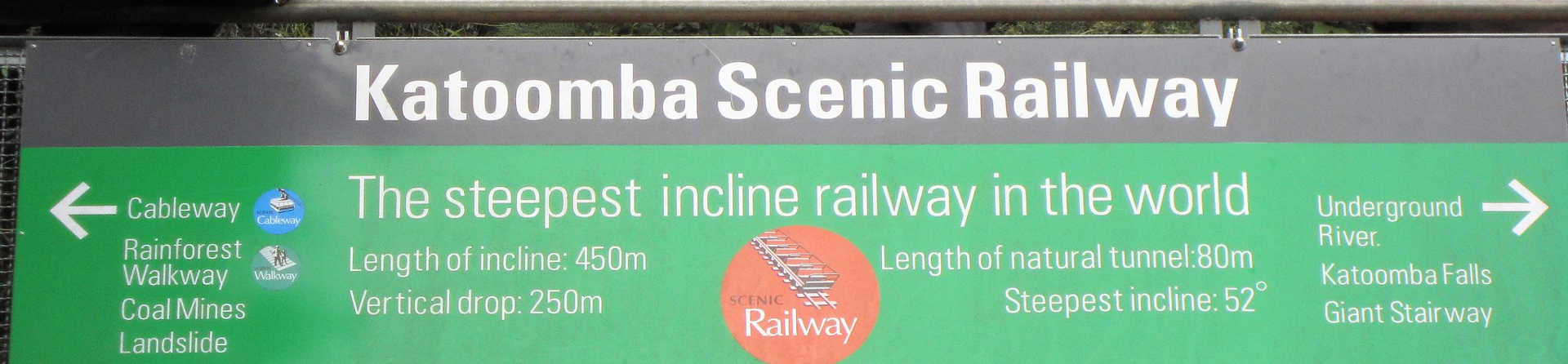 How long is the Scenic Railway?